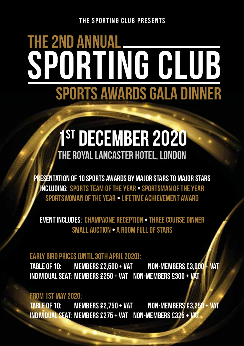 Sports Awards Gala Dinner Date Announced