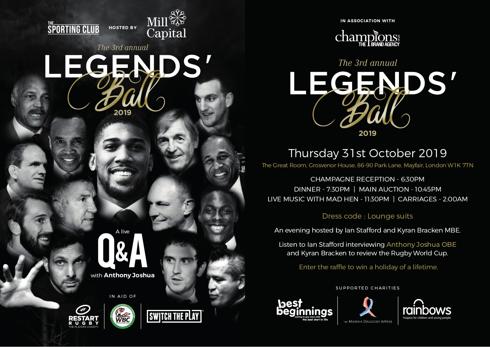 Legends Ball With Anthony Joshua